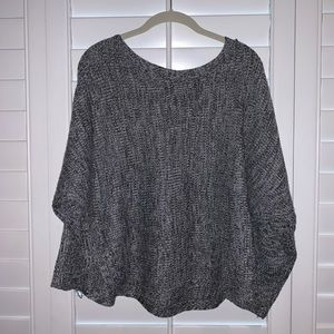 Honey Punch Sweater (Black and White Flecked)